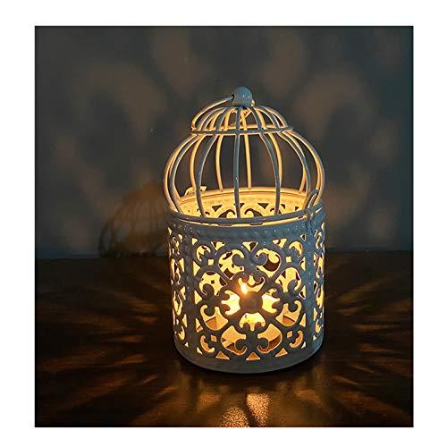 Feixing Candelabro romántico de hierro forjado antigüedades a prueba de viento colgar candelabro para el jardín del hogar