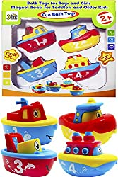 3 Bees & Me Bath Toys for Boys and Girls - Magnet Boat Set for Toddlers & Kids - Fun & Educational-toys for 2 year old boys,