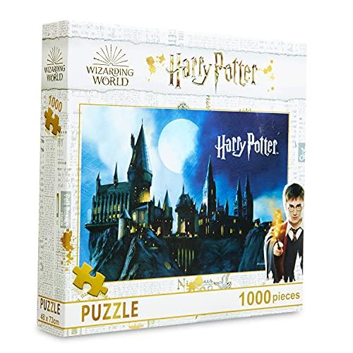Harry Potter Puzzle 1000 Pezzi & 4 Puzzle 250 Pezzi, Harry Potter Gadget Originali per Bambini e Adulti (1000 p)