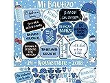 Photocall Mi Bautizo Atrezzos Personalizado Eventos o Celebraciones puntuales | Medidas 100x100cm | Ventana y Atrezzos Troqueladas | Photocall Divertido | Atrezzos