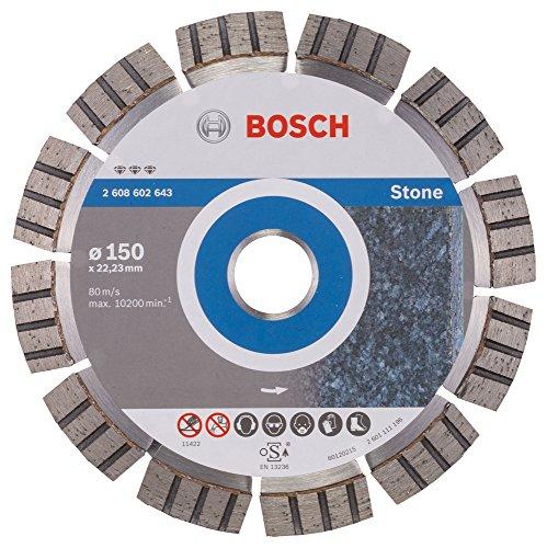 Bosch 2 608 602 643 - Disco de corte de diamante Best for Stone - 150 x 22,23 x 2,4 x 12 mm (pack de 1)