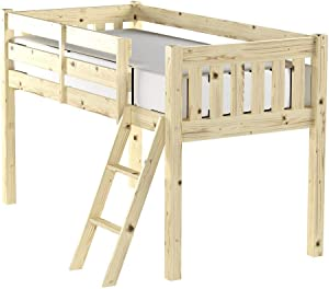 cabin bed - 3ft single wooden midi sleeper - childrens pine bed - HEAVY DUTY