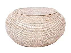 Amazon Kouboo La Jolla Round Rattan Storage Coffee Table