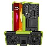 Yiakeng Compatible for LG Velvet Case, LG Velvet 5G Case, Shockproof Slim Protective with Kickstand Hard Phone Cover for LG Velvet 5G (Green)