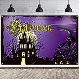ANVAVA Halloween Hintergrund Banner Violett Draußen