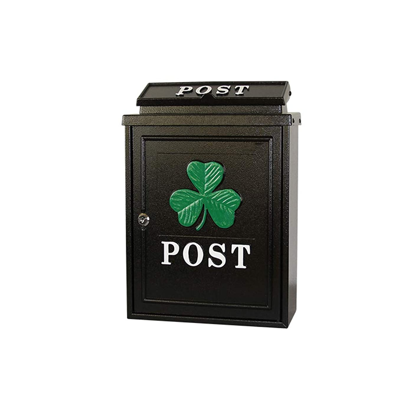 錆び探偵エッセンスHZBc ヨーロッパの郵便箱屋外ヴィラ、牧歌的なクリエイティブ壁掛け防水レターボックス、壁掛け装飾、クローバー