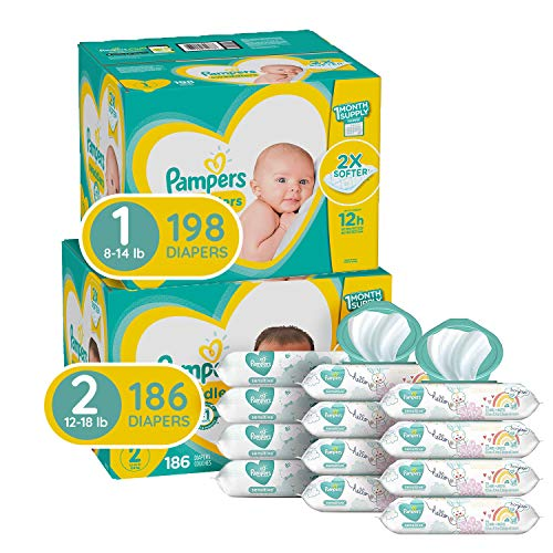 Pampers Baby Diapers and Wipes Starter Kit (2 Month Supply)...