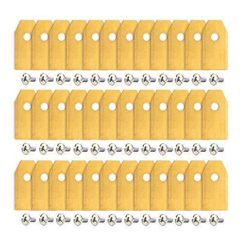 AGPTEK Cuchulla para cortacésped de Titanio, 36 Piezas de Cuchillas de Repuesto, Cuchilla de Acero Inoxidable con Revestimiento de Titanio para Gardena y Husqvarna Automower