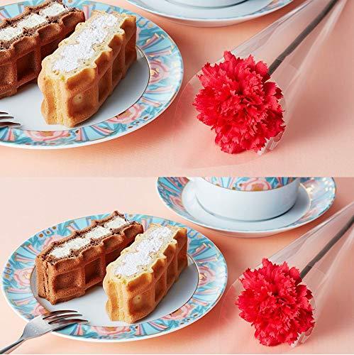 エール・エル母の日フラワー付きワッフルケーキ冷凍タイプ10個入り詰め合わせ