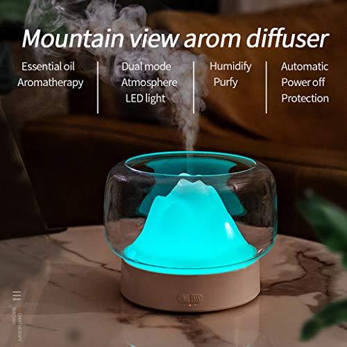 goodjinHH Difusor de aroma, 400 ml, humidificador Mountain View USB, humidificador ultrasónico, difusor de aceites aromáticos, humidificador para yoga, spa, oficina, habitación, dormitorio