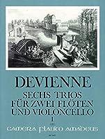 DEVIENNE - Trios (6) Op.19 Vol.1: nコ 1 a 3 para 2 Flautas y Violoncello (Partes) (Pauler)