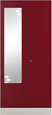 GODREJ INTERIO Slimline Steel Wardrobe Ceremine Red,2 Door