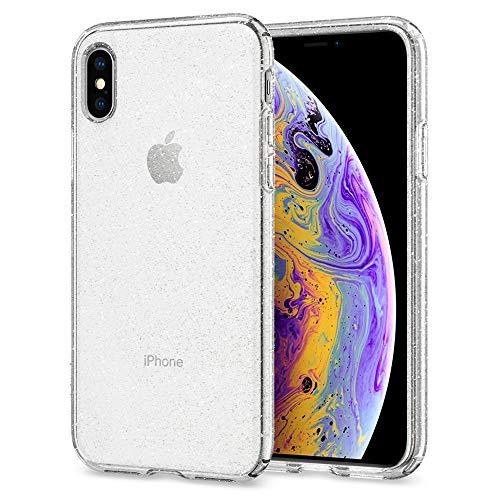 Spigen Cover iPhone X, [Liquid Crystal] Custodia iPhone X con Protezione Sottile e chiarezza Premium per Apple iPhone X (2017) - Glitter Crystal Quartz - 057CS22122