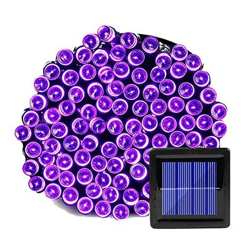 200 LED Solar Guirnalda String Fairy Lights Outdoor 22M Lámpara de energía solar para la decoración del jardín 3 Modo Holiday Navidad Fiesta de boda ( Emitting Color : Purple , Wattage : 12M 100 LED )