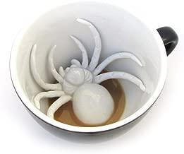 Taza de cerámica araña de CREEPY CUPS (440 ml, negro medianoche) | Animal oculto en el interior | Regalo de Halloween, vacaciones y cumpleaños para amantes del café y el té