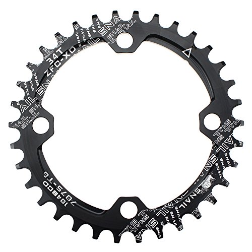 CYSKY 34T Narrow Wide Chainring 104 BCD Bike Single Chainring with 9 10 11 Speed for Road Bike Mountain Bike BMX MTB (34T)