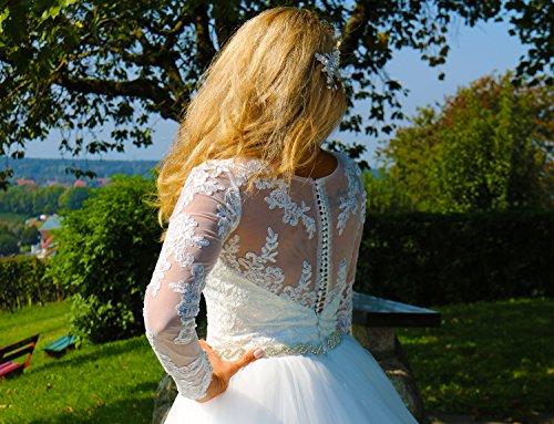 Luxus Brautkleid Hochzeitskleid // Spitze mit Ärmel Prinzessin Brautkleid - 6
