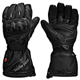 Heated Motorcycle Gloves,7.4V 2200MAH Electric Rechargeable Battery Waterproof Riding Gloves Men Women for Winter Biking Cycling Hunting Fishing Ski Snow Insulated Gloves, Hand Warmer Arthritis(L)