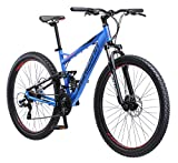 Schwinn Protocol 2.7 Dual-Suspension Mountain Bike with Aluminum Frame, 27.5-Inch Wheels, Matte Blue