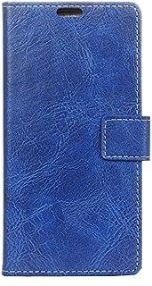 Vodafone Smart X9 シェル, Happon Vodafone Smart X9 レザー 財布 シェル 本 設計 ?と フリップ カバー 且つ 立つ [クレジット カード スロット] カバー シェル の Vodafone Smart X9-Blue