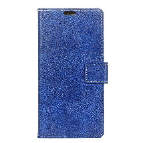 fancartuk Kompatibel mit BlackBerry Aurora Hülle Leder, PU Brieftasche etui Schutzhülle Tasche Slim Flip Case Cover mit Magnetverschluss für BlackBerry Aurora (Blau)