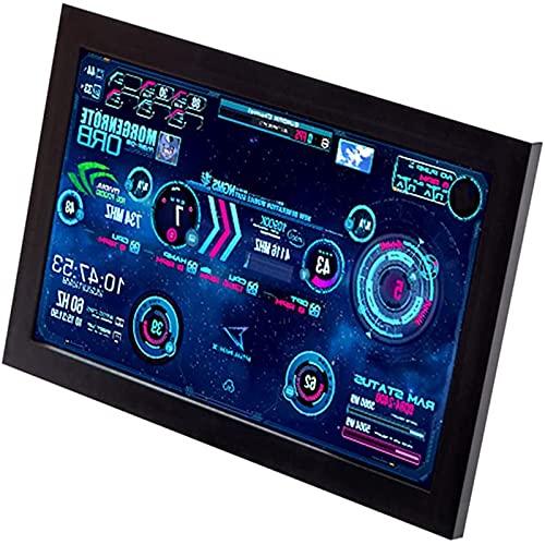 AqGwfcH Monitor De La CPU, Monitor Portatil, Control De Pantalla TáCtil De 13,3 Pulgadas, Pantalla HD, Pc Screen para Estado De Uso De Hardware,15.6 Inches