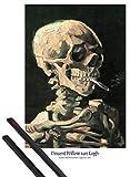 1art1 Vincent Van Gogh Poster (91x61 cm) Schädel Mit