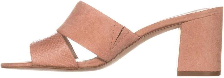 Alfani Womens Rochele Leather Open Toe Casual Slide Sandals