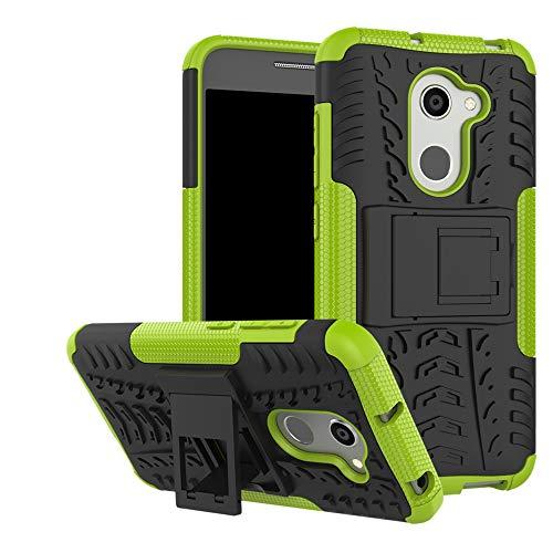 LFDZ Alcatel A3 Tasche, Hülle Abdeckung Cover schutzhülle Tough Strong Rugged Shock Proof Heavy Duty Hülle Für Alcatel A3 Smartphone (mit 4in1 Geschenk verpackt),Grüne