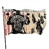 LZHANDA Jardín Banderas Decoración de Exterior, Classic Outdoor Sons of Anarchy Garden Flag 3x5ft