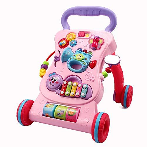 Nlatas Lauflernwagen, mit extra kippsicherem Design, Multifunktionales Lernspielzeug für Kinder,Red