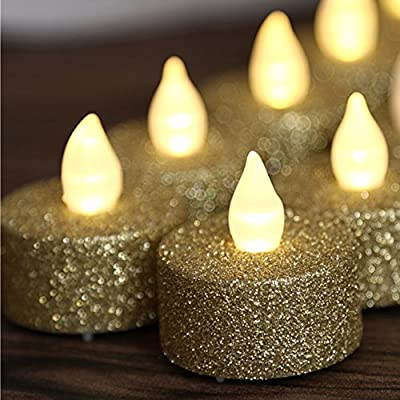 Glitter Votive Tealight Led Flameless Candle Powered By Battery Lighting For Wedding Christmas Centerpieces Decoration