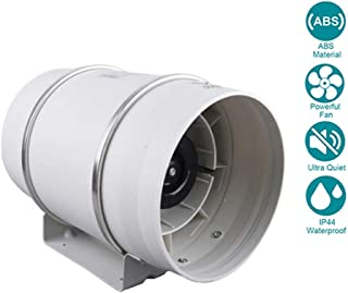 WYHDA Mixed Flow Inline Duct Fan Extractor Fan Industry Diameter 250mm for Bathroom, Office, Hotel, Hall, Hydroponic Room (Air Volume: 1405m³/h, 225W)