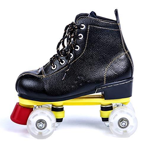 Rollschuhe Roller Figure Quad Herren Damen Jugendliche Rollschuhe PU Eiskunstlauf,A,38