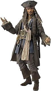 Collectible Figure Pirates of The Caribbean Captain Jack Sparrow Figura Model Estatua Juguetes 15cm