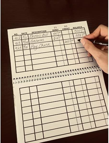 Milwaukee Mall Large Print Check Register - Jumbo Save money Spiral