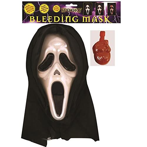 Adults Scream Mask Mens Horror Film Bleeding Halloween Fancy Dress Accessory