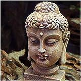 erddcbb Acuario Resina Antigua Estatua de Buda decoración Acuario pecera Adornos Reptil Decorado - 16 x 9 x 9 cm