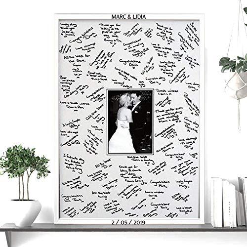 Didart Handmade Libro de visitas. Cuadro de firmas para boda. Varios t