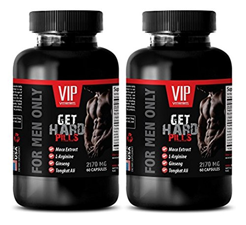 Male Enhancing Pills Increase Size and Girth - GET Hard Pills 2170Mg - for Men ONLY - maca Herbal Secrets - 2 Bottles (120 Capsules)