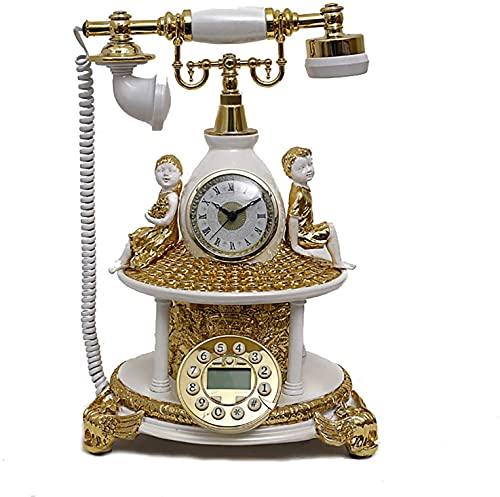 JDJFDKSFH Retro Landline Villa Europea Estilo Fijo teléfono Retro Ángel Niñez Antiguo Teléfono Teléfono Dial Teléfono Teléfonos fijos fijos
