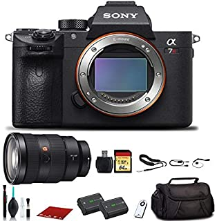 Sony Alpha a7R III Mirrorless Digital Camera (ILCE7RM3/B) with Sony FE 24-70mm Lens, Bag, Extra Battery, 64GB Memory Card, Memory Card Reader and More.