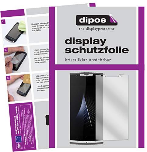 dipos I 2X Schutzfolie klar kompatibel mit Oukitel K10000 Pro Folie Bildschirmschutzfolie