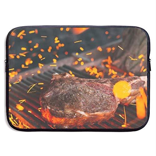 Ahdyr BBQ Barbecue Grill Doodle Handtasche Fall Abdeckung Laptop-Hülle Computer-Tasche für 13 '15'