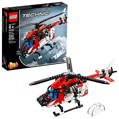 Technic Lego Rettungs-Helicopter 42092 Bauset, Neu 2019 (325 Teile)