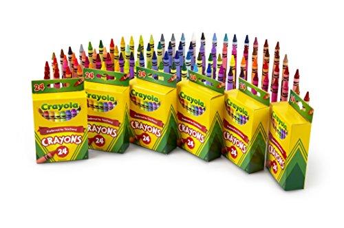 Crayola Crayons, School & Art Supplies, Bulk 6 Pack of 24Count, Assorted