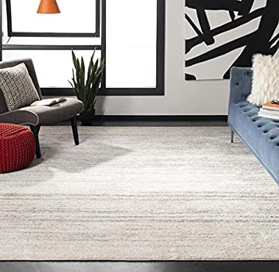 Safavieh Adirondack Collection ADR113B Modern Ombre Area Rug, 8' x 10', Ivory/Silver