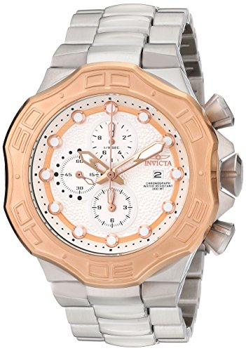 Invicta Men's 12430 'DNA Chronograph' Stainless Steel and 18k Rose Gold Ion Plating Bracelet Watch