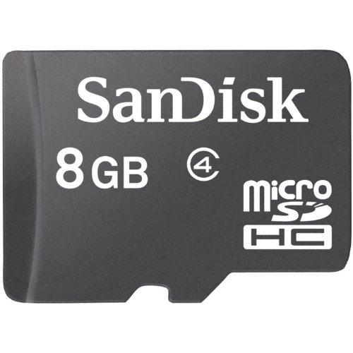 SanDisk Scheda di Memoria Micro SDHC 8 GB, Classe 4