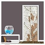 Door Sticker Street View Self-adhesive Waterproof Wallpaper For Doors Living Room Bedroom Poster Mural Home Decor Renew Decal